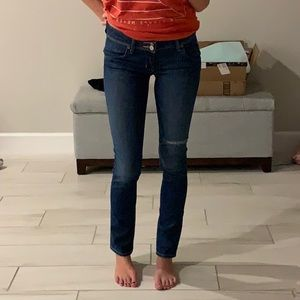 Hudson Collin Flap distressed skinny jeans size 24